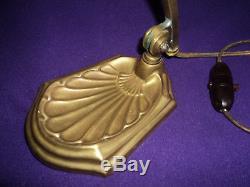 Pied De Lampe Bronze Tulipe Daum Muller Art Deco/nouveau Pate De Verre 1900