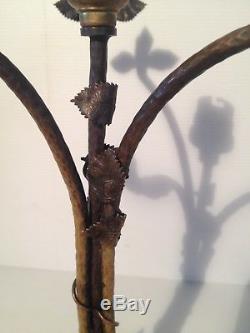 Pied de Lampe Art Nouveau Déco bronze pour Obus Muller Daum 1900 jugendstil