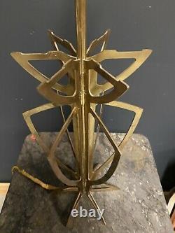 Pied de Lampe Design Art Deco Moderniste Bronze Lamp Maison Charles Bagues 1950