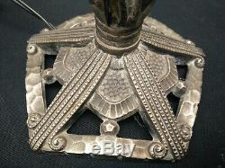 Pied de lampe bronze art déco 1920 / 1930 SIEGEL