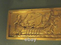 Plaque de décoration en bronze doré. Scène mythologique. Ameublement, art déco. 1920