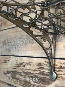 Porte bagage train époque Art déco en bronze et laiton