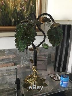 RARE LAMPE Style ART DECO 3 GRAPPES DE RAISINS MURANO/Parfait État