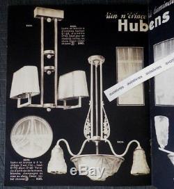 Rare Catalogue HUBENS ART ET LUMINAIRE 1935-1936 Lustre Bronze Verrerie Art Déco