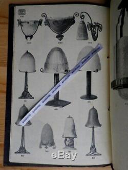 Rare Catalogue RENE POTTIER 1930 ART DECO Luminaires Verrerie Bronze + Tarifs