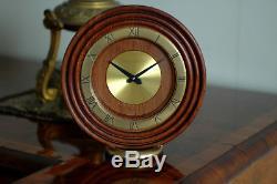 Rare Pendule De Table Jaeger Lecoultre 8 Day Art Deco Bauhaus Clock