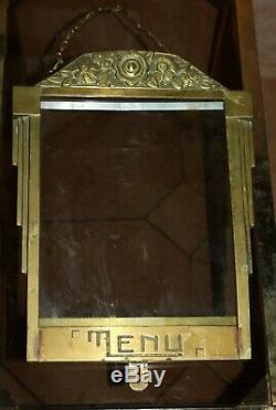 Rare Porte Menu Art Déco en bronze, circa 1920, Menu Holder