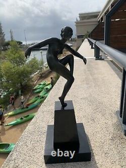 Rare Superbe Bronze Marcel Bouraine Epoque Art Deco Danseuse