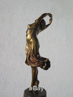 Rare ancien bronze art déco danseuseBailarinasigné Claire Colinet. No chiparus
