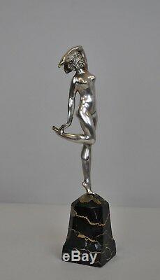 S Lipchytz, Danseuse Javanaise, Bronze Signé, Art Déco XXè