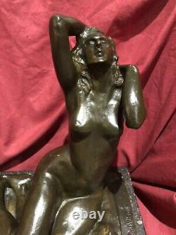 SCULPTURE BRONZE SERGE ZELIKSON NU FÉMININ Art Deco