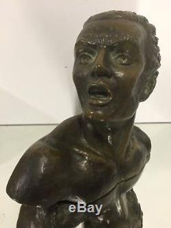 Salvator RIOLO Buste Bronze Sculpture Jean Mermoz Art Deco Design Cipriani
