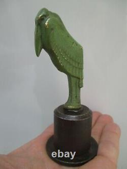 Sculpture ART DÉCO Bronze MARABOUT presse papier socle en métal forgé