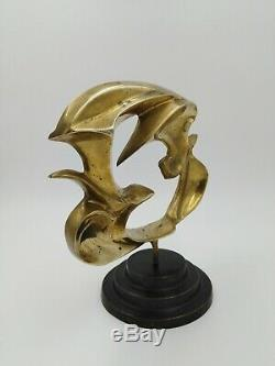 Sculpture bronze modernisme allégorique oiseaux Braque dans le goût de art-déco