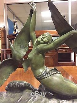 Sculpture en bronze 1930 Art-déco signée Salvatore MELANI