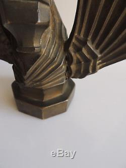Sculpture/mascotte en bronze cheval ailé art déco hauteur 14 cm vers 192