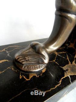 Serre-livre art-deco otaries par FRECOURT, era fayral bronze 1920 rochard