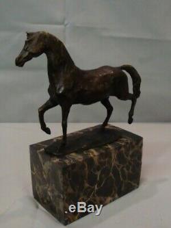 Statue Cheval Animalier Style Art Deco Style Art Nouveau Bronze massif