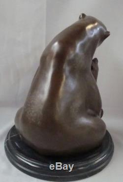 Statue Ours Animalier Style Art Deco Style Art Nouveau Bronze massif