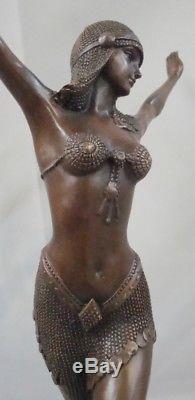 Statue Palmyre Sexy Style Art Deco Style Art Nouveau Bronze massif Signe