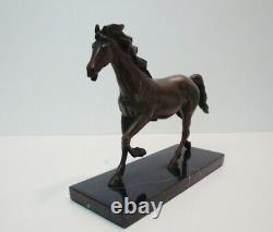 Statue Sculpture Cheval Poulain Animalier Style Art Deco Style Art Nouveau Bronz