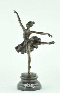Statue Sculpture Danseuse Classique Opera Style Art Deco Bronze massif Signe