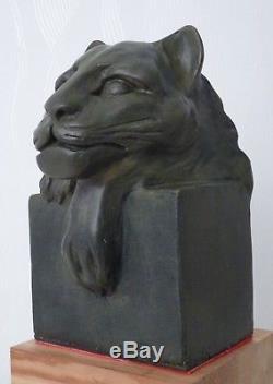 Statue / Sculpture / Epoque Art Deco /panthere Patine Bronze