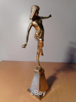 Statue bronze art déco Alonzo danseuse égyptienne mascotte bouchon radiateur