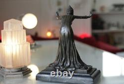 Statuette En Bronze Style Art Deco Signée Colinet