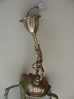 Superbe lanterne en bronze de style Louis XV en état de marche